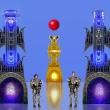 Zwei Ritter an der Goldenen Pforte * vergrößern