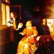 Der Brief * Kopie nach Pieter de Hooch * vergrößern