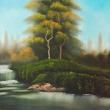 Baumgruppe am Fluss * vergrößern