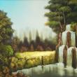 Frau am Wasserfall * vergrößern