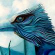 Sturm zieht auf am Horizont der bürgerlichen Welt * Ausschnitt: Kopf des Vogels * vergrößern