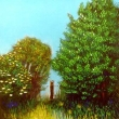 Büsche und Baum am Hasenkopf in Marburg * vergrößern
