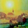Oberweimar. Blick auf den Ort und die Martinskirche * vergrößern